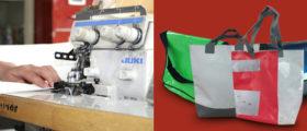 Nouveaux sacs créés dans l'atelier confection